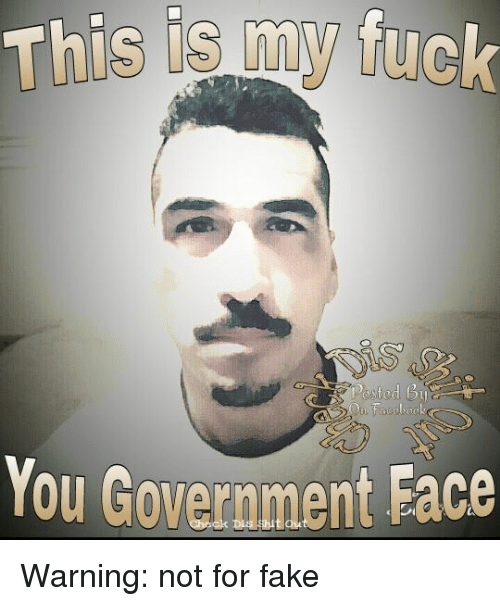 Fuck my goverment