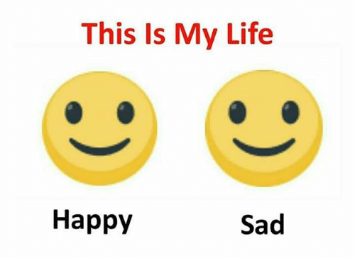 Image result for happy sad