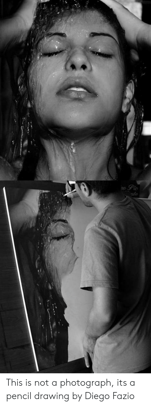 Diego, This, and This Is: This is not a photograph, its a pencil drawing by Diego Fazio