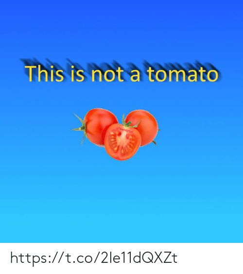Tomato, This, and This Is: This is not a tomato  u/WanderSol https://t.co/2Ie11dQXZt