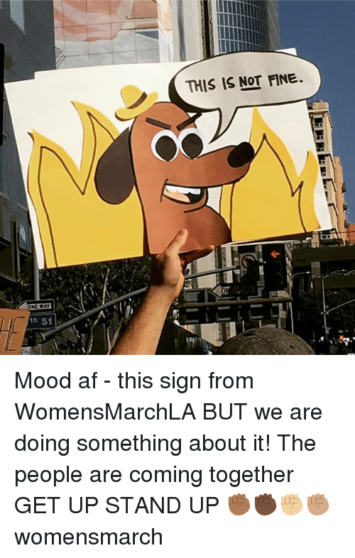 Af, Memes, and Mood: THIS IS NOT NE. Mood af - this sign from WomensMarchLA BUT we are doing something about it! The people are coming together GET UP STAND UP ✊🏾✊🏿✊🏼✊🏽 womensmarch
