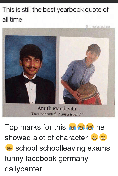 this is still the best yearbook quote of all time 12969636 ✅ 25 best memes about exam funny exam funny memes