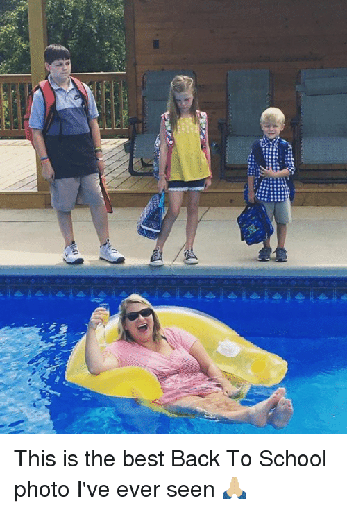 Memes, School, and Best: This is the best Back To School photo I've ever seen 🙏🏼