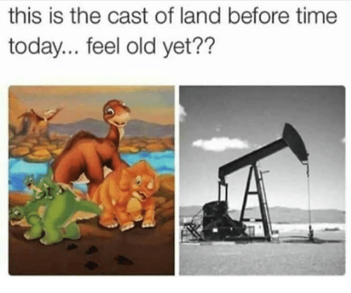 Time, Today, and Old: this is the cast of land before time  today... feel old yet??