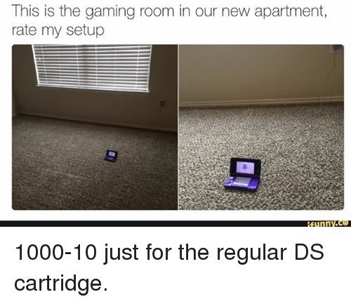 Funny, Memes, and Gaming: This is the gaming room in our new apartment,  rate my setup  funnY 1000-10 just for the regular DS cartridge.