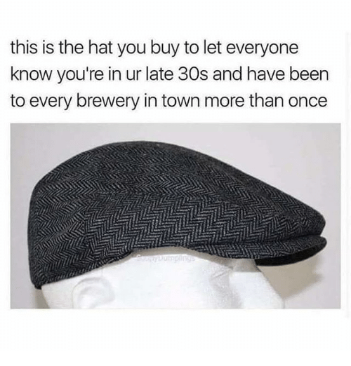 Dank Memes, Been, and Once: this is the hat you buy to let everyone  know you're in ur late 30s and have been  to every brewery in town more than once