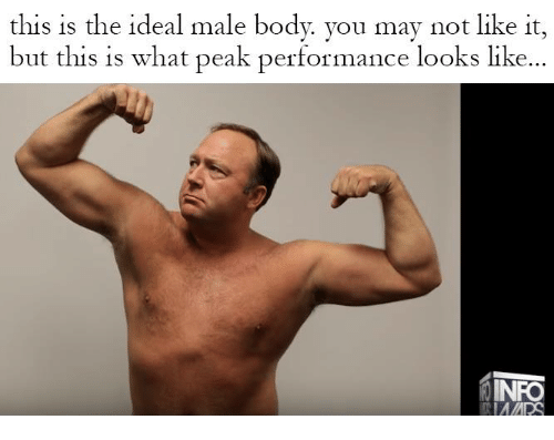 peak performance male body