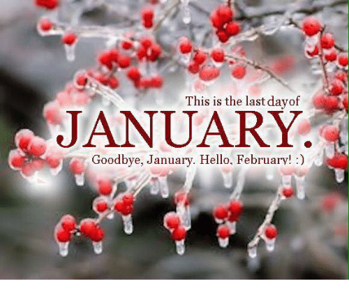 This Is the Last Dayof JANUARY Goodbye January Hello ...