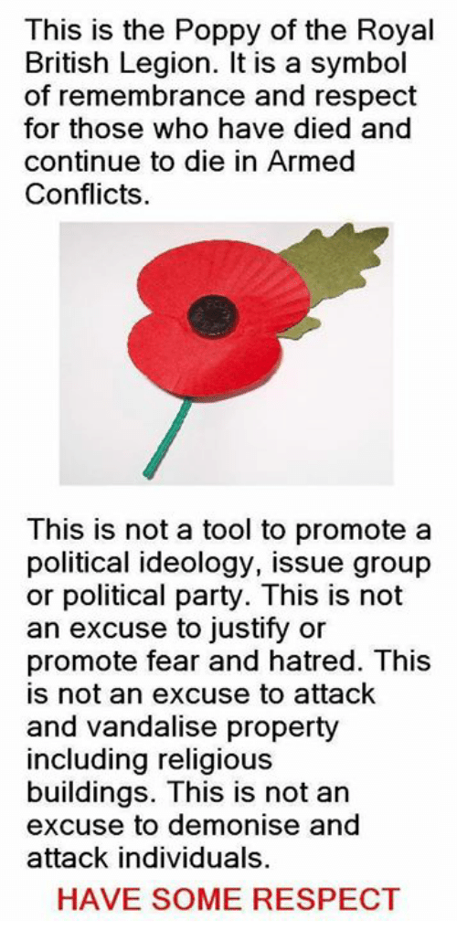 This Is The Poppy Of The Royal British Legion It Is A Symbol Of