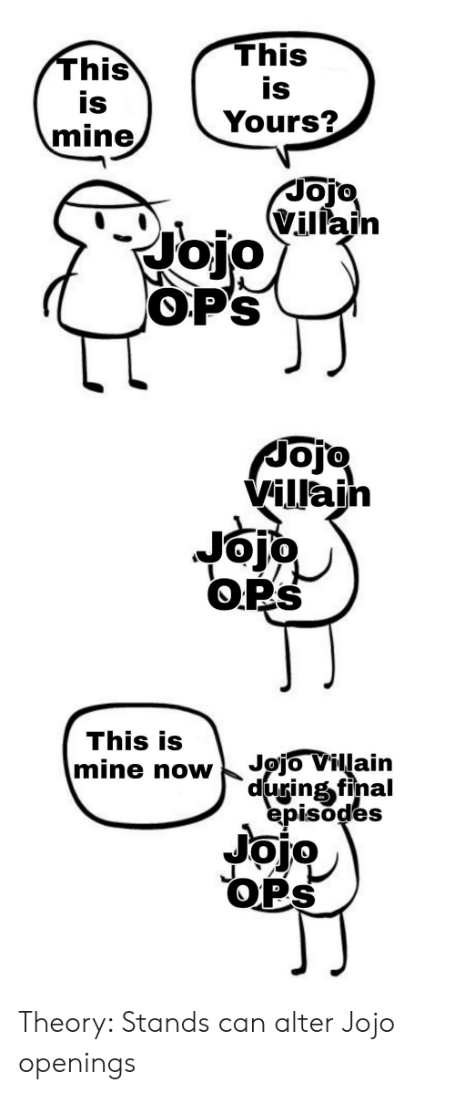 This Is This Is Yours? Mine Noio Vulain OP'S Jojo Villain