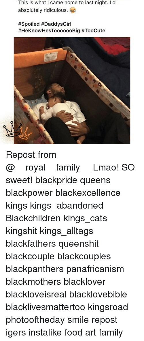 Cats, Family, and Food: This is what I came home to last night. Lol  absolutely ridiculous.  Repost from @__royal__family__ Lmao! SO sweet! blackpride queens blackpower blackexcellence kings kings_abandoned Blackchildren kings_cats kingshit kings_alltags blackfathers queenshit blackcouple blackcouples blackpanthers panafricanism blackmothers blacklover blackloveisreal blacklovebible blacklivesmattertoo kingsroad photooftheday smile repost igers instalike food art family