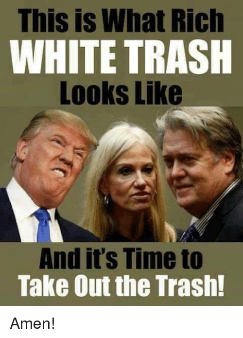 Image result for trump white trash