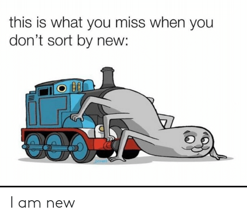 New, You, and Miss: this is what you miss when you  don't sort by new: I am new