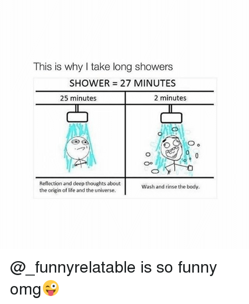 Image result for long shower funny