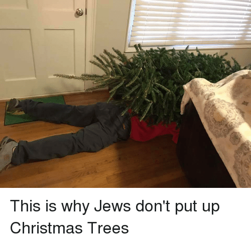 Jews Christmas Trees.This Is Why Jews Don T Put Up Christmas Trees Funny Meme