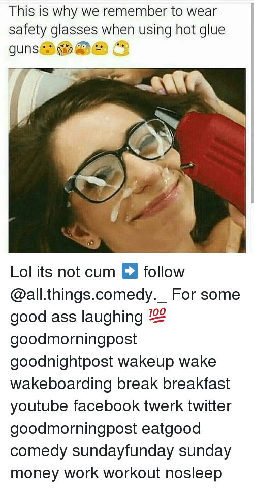Information not cum on glasses with captions