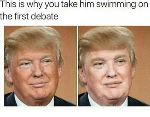 Dank Memes, Swimming, and Debate: This is why you take him swimming on  the first debate