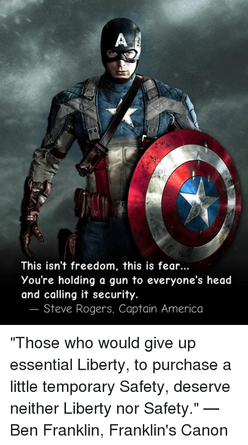 Isnt It Little Early To Give Up On >> This Isn T Freedom This Is Fear You Re Holding A Gun To Everyone S