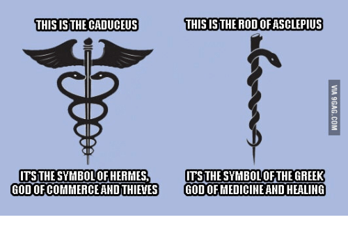 This Isthe Caduceus This Is The Rodofasclepius Its The Symbolof
