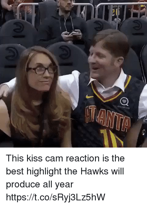 Sports, Best, and Hawks: This kiss cam reaction is the best highlight the Hawks will produce all year https://t.co/sRyj3Lz5hW