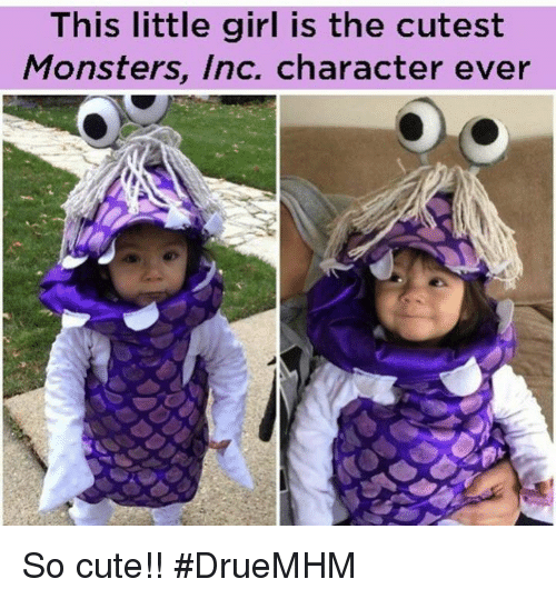This Little Girl Is the Cutest Monsters Inc Character Ever So Cute