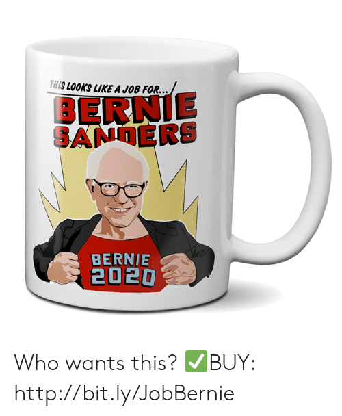 Bernie Sanders, Http, and Bernie: THIS LOOKS LIKE A JOB FOR...  BERNIE  SANDERS  BERNIE  2020 Who wants this?  ✅BUY: http://bit.ly/JobBernie