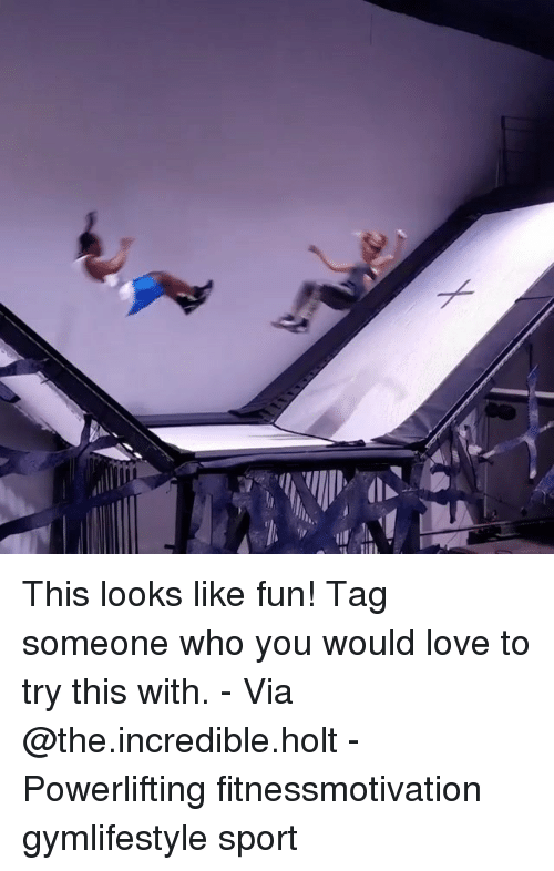 Love, Memes, and Tag Someone: This looks like fun! Tag someone who you would love to try this with. - Via @the.incredible.holt - Powerlifting fitnessmotivation gymlifestyle sport