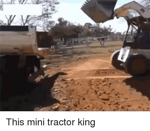 Funny, Mini, and King: This mini tractor king