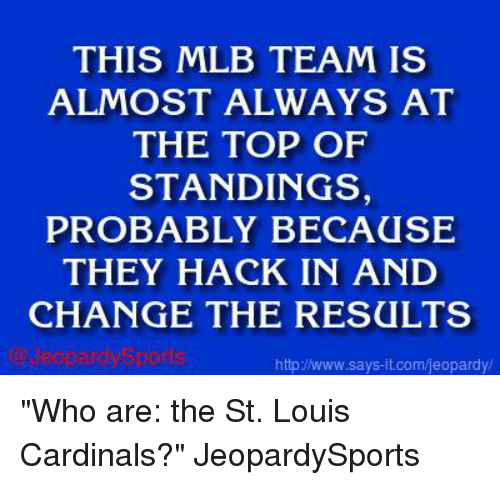 THIS MLB TEAM IS ALMOST ALWAYS AT THE TOP OF STANDINGS