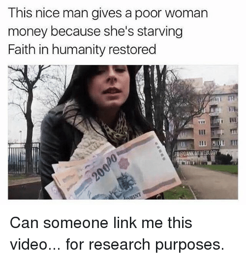 this nice man gives a poor woman money because shes 26633462 this nice man gives a poor woman money because she's starving