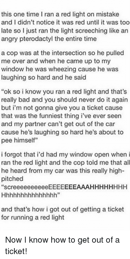 How Much Is A Ticket For Running A Red Light >> This One Time I Ran A Red Light On Mistake And I Didn T