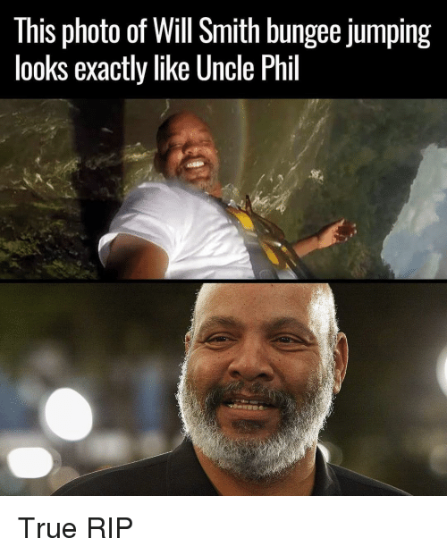 Funny, Photos, and Photo: This photo of Will Smith bungee jumping  looks exactly like Uncle Phil True RIP