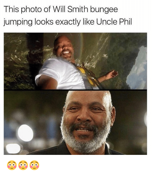 Memes, 🤖, and Photos: This photo of Will Smith bungee  jumping looks exactly like Uncle Phil 😳😳😳