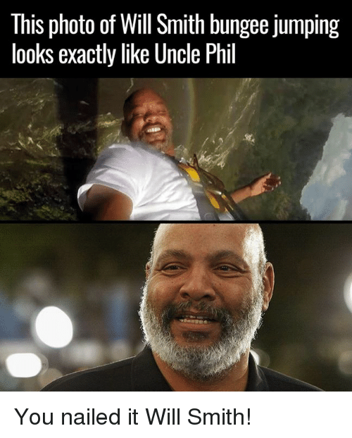 Photos, Photo, and Smiths: This photo of Will Smith bungee jumping  looks exactly like Uncle Phil You nailed it Will Smith!