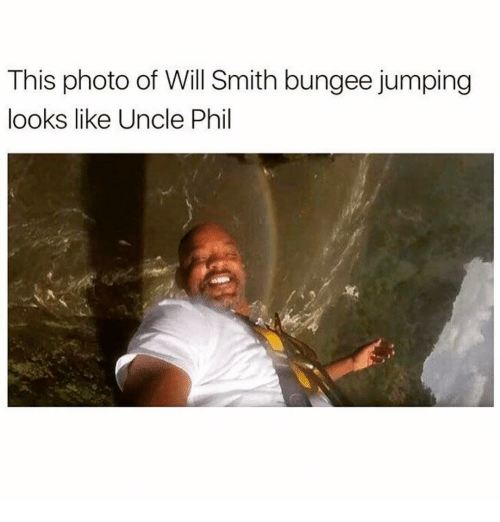 Memes, 🤖, and Photos: This photo of Will Smith bungee jumping  looks like Uncle Phil
