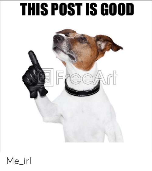 Good, Irl, and Me IRL: THIS POST IS GOOD  FreeArt  LIL Me_irl