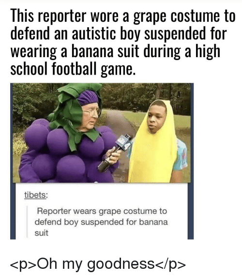This Reporter Wore A Grape Costume To Defend An Autistic Boy