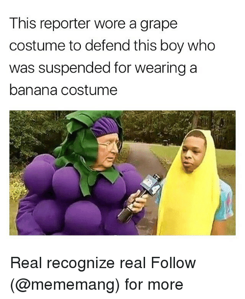 This Reporter Wore A Grape Costume To Defend This Boy Who Was