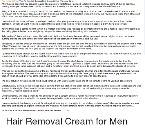 This Review Is From Veet For Men Hair Removal Gel Cream 200 Ml