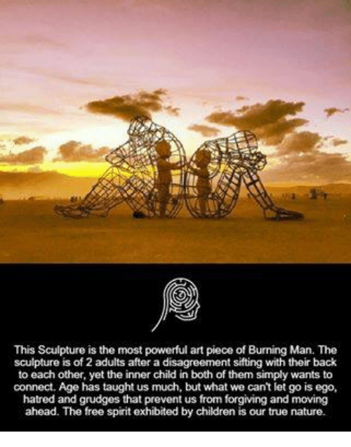 this sculpture is the most powerful art piece of burning man the