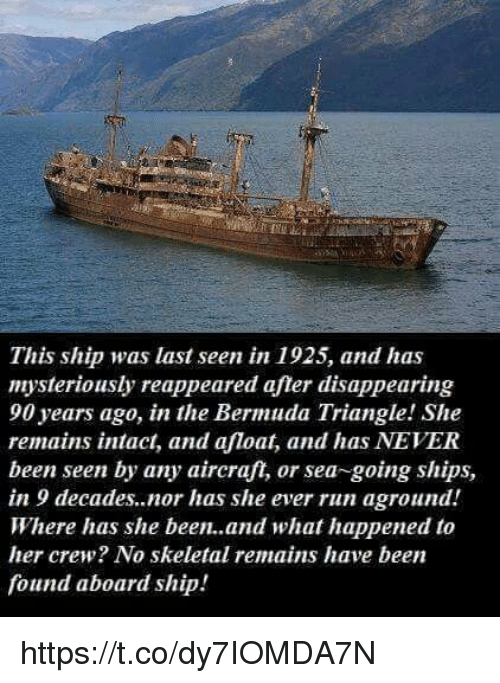 this ship was last seen in 1925 and has mysteriously 10964670 ✅ 25 best memes about bermuda triangle bermuda triangle memes,Bermuda Memes