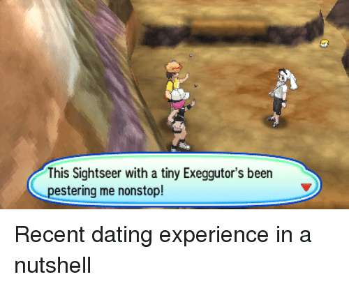 This Sightseer With a Tiny Exeggutor's Been Pestering Me Nonstop