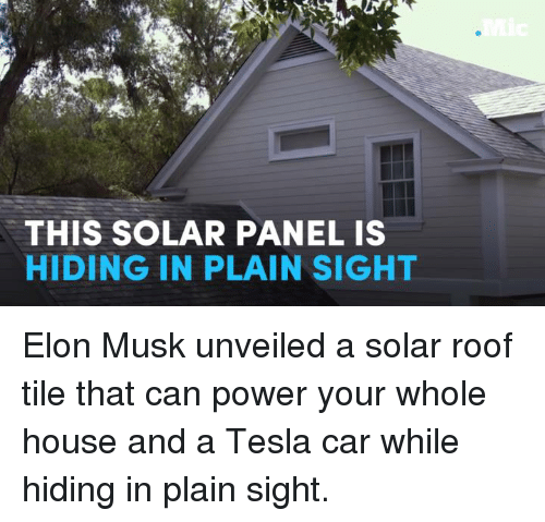 THIS SOLAR PANEL IS HIDING IN PLAIN SIGHT Elon Musk Unveiled