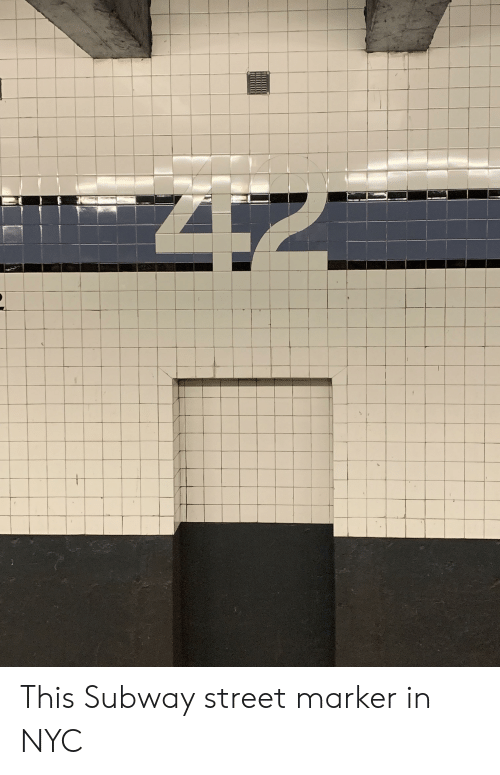 Subway, Nyc, and Street: This Subway street marker in NYC