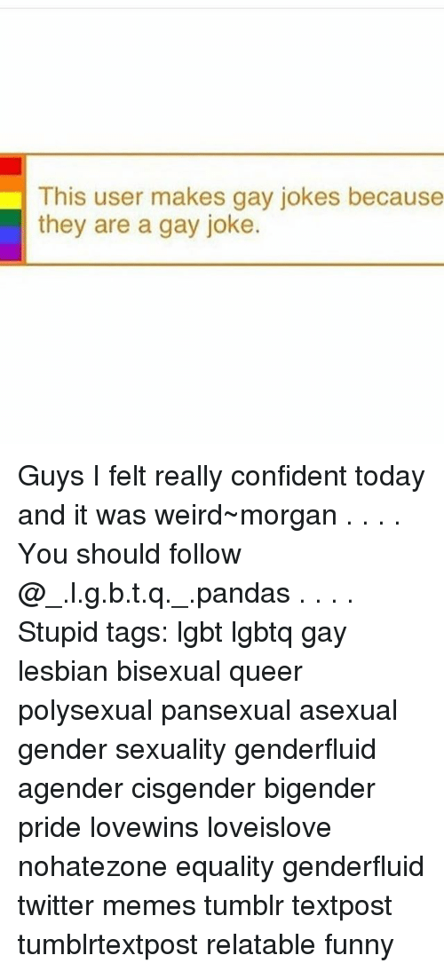 Bisexual coming out jokes