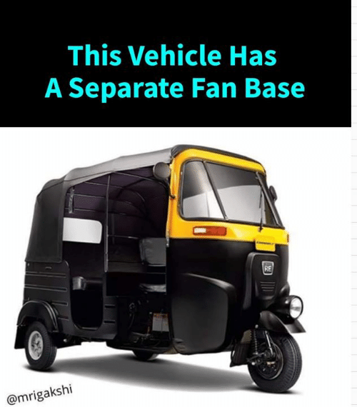Memes, 🤖, and Vehicle: This Vehicle Has  A Separate Fan Base  RE  @mrigakshi