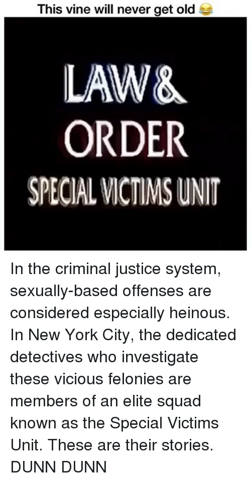Law and order svu sexually based offenses