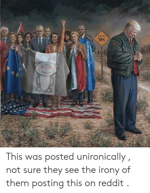 Politics, Reddit, and Irony: This was posted unironically , not sure they see the irony of them posting this on reddit .