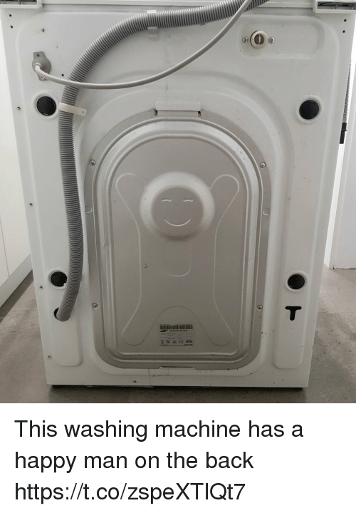 Happy, Faces-In-Things, and Back: This washing machine has a happy man on the back https://t.co/zspeXTlQt7