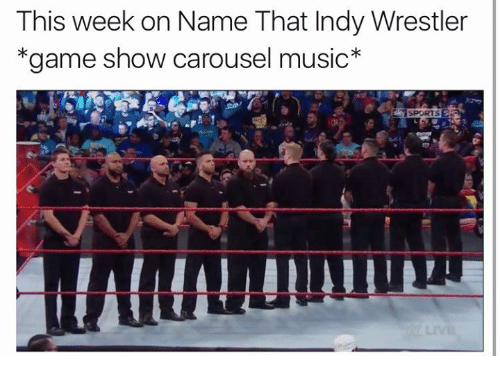 Wrestling, World Wrestling Entertainment, and Game Shows: This week on Name That Indy Wrestler  *game show carousel music  SPORTS